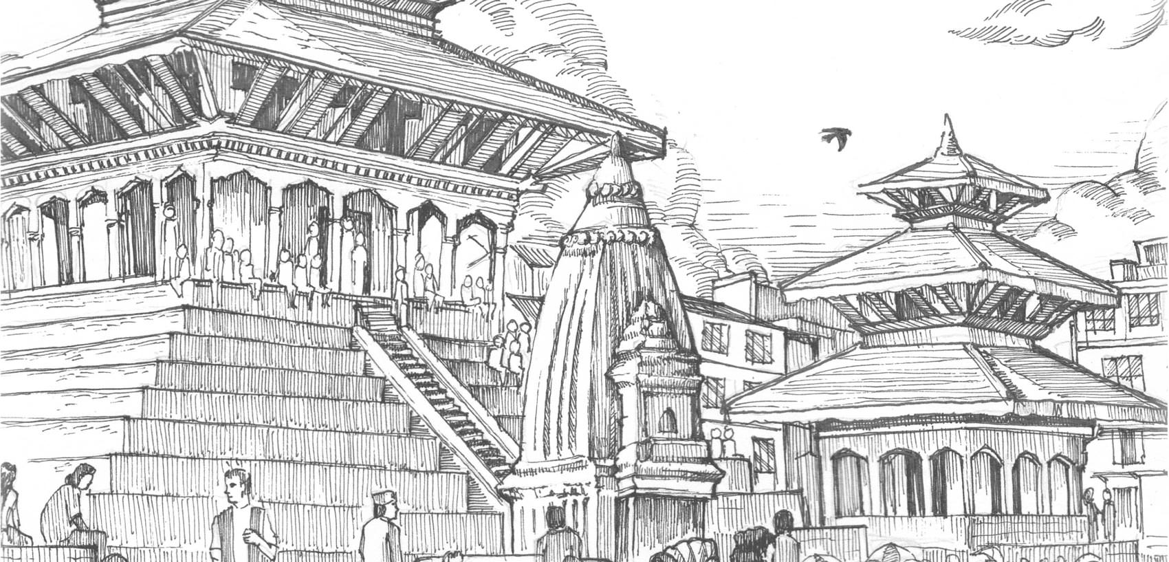 Temple Illustration