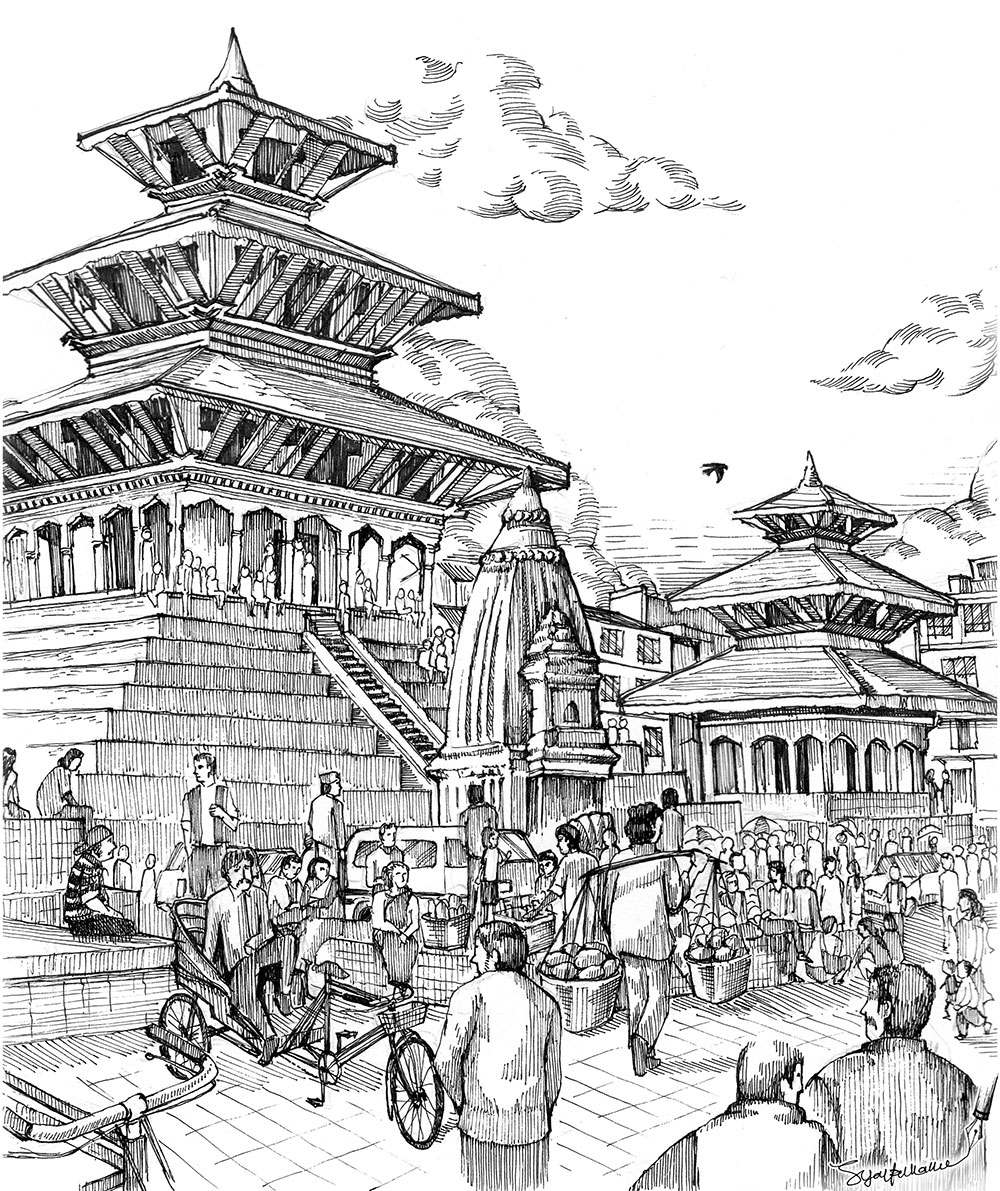 Illustration Temple
